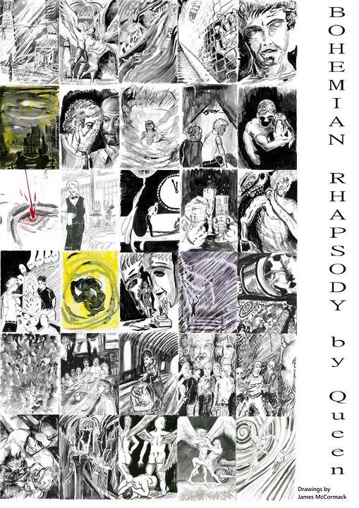 Bohemian Rhapsody Illustrated - James McCormack Artist