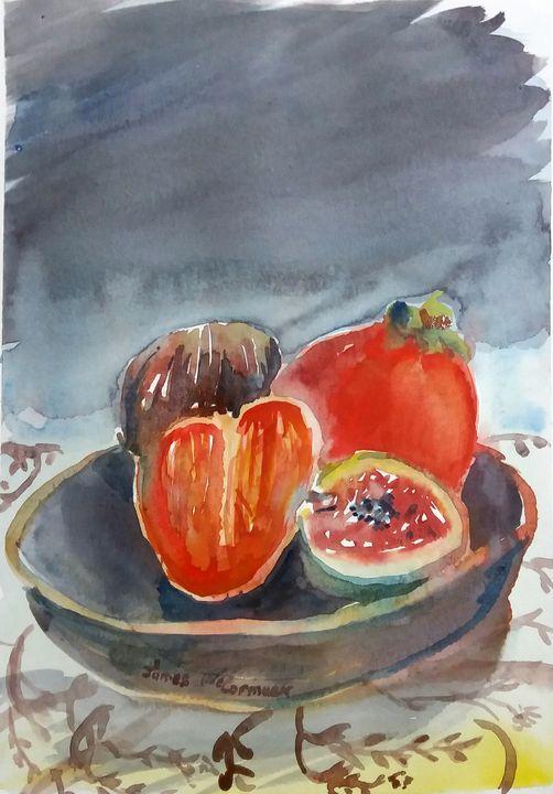 Figs And Kakis For Breakfast - James McCormack Artist