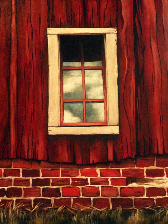 Clouds Reflected in a Barn Window - Luke G. Shook