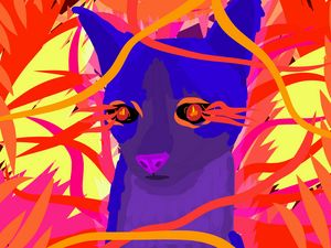 Stylised Cat 2 - Milestone Media