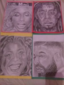 Portraits of Drake, Nicki manaj,lil