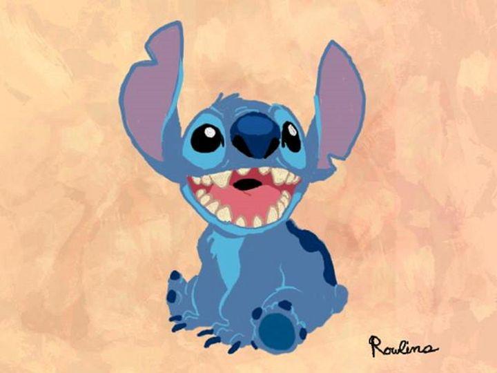 Stitch - Disney Art by Ian Rowlins