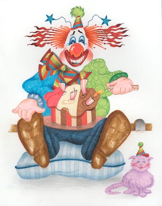 Birthday Clown Four Year Old - marcia's art
