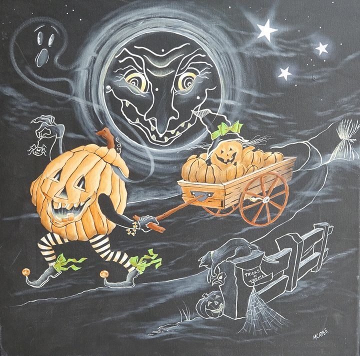 The Jack-O-Lantern's Party - marcia's art
