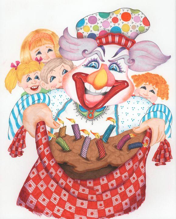 Happy Birthday! I Baked You A Cake! - marcia's art