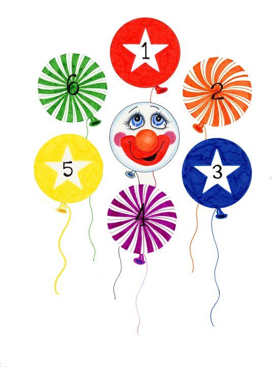 Balloon Clown - marcia's art