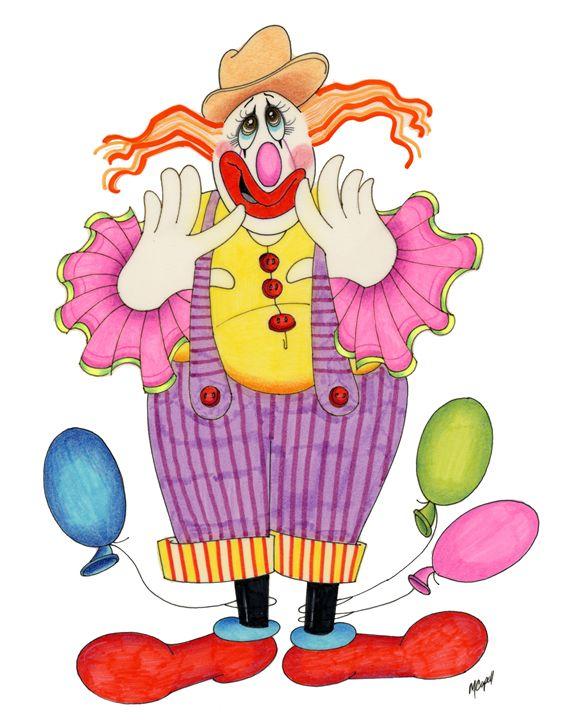 Trickey the Clown - marcia's art