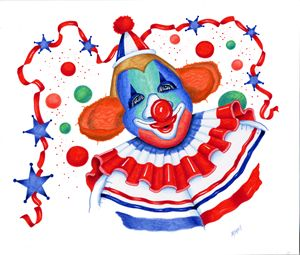 Patriotic Clown