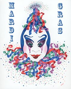 Mardi Gras Clown