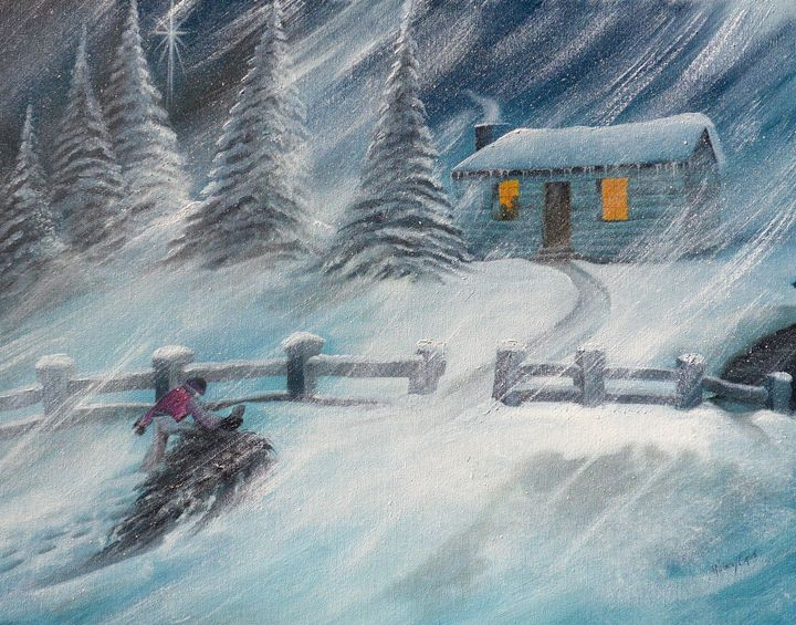 Bringing Home the Tree - marcia's art