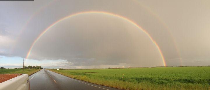 Drive home rainbow - Mountain Breeze
