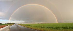 Drive home rainbow