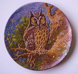 Decorative plate Owl