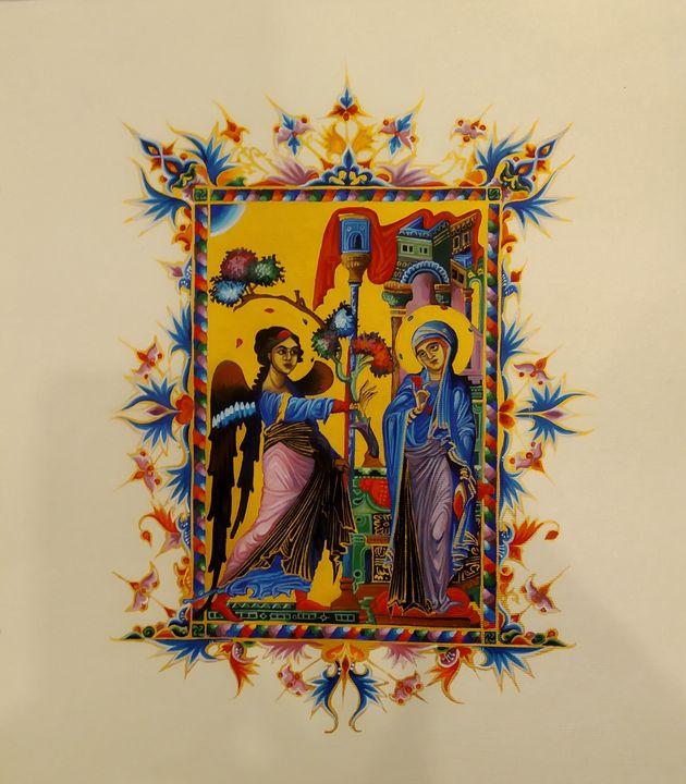 Annunciation, Toros Roslin,copy - Gohar Tumasyan