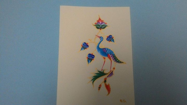 The Bird of paradise. Postcard - Gohar Tumasyan
