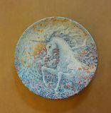 Decorative plate Unicorn