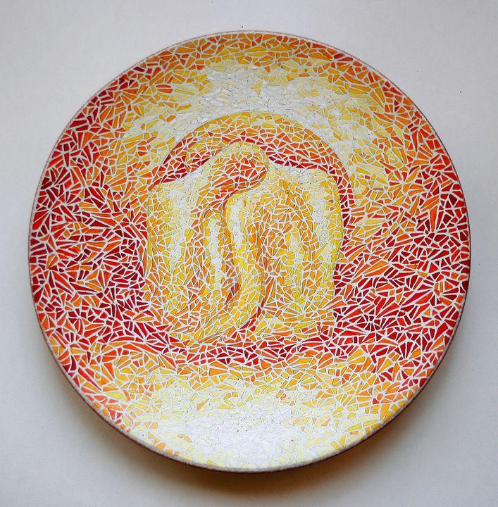 Decorative plate The two - Gohar Tumasyan