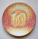 Original painting on ceramic plate