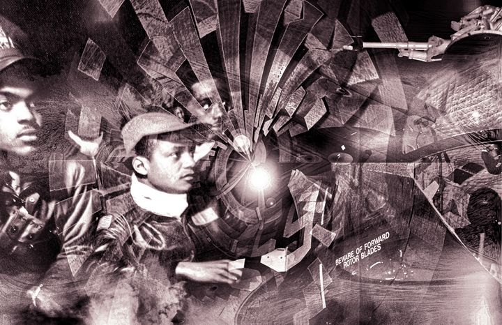 """Tuskegee & Beyond"" B&W - Andre McKee"