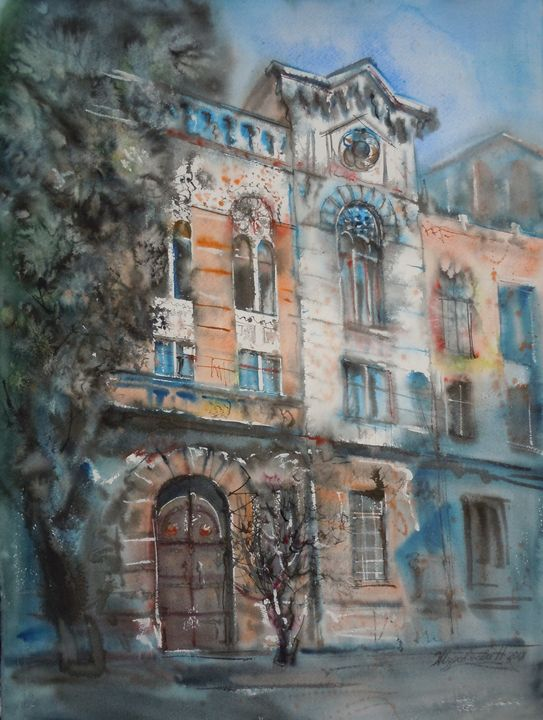 Sunny day - Zhuravlova Nataliia & Watercolor