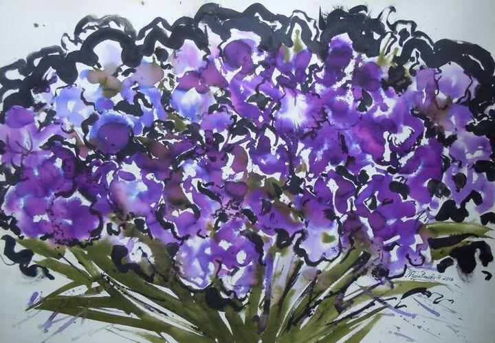 Irises - Zhuravlova Nataliia & Watercolor