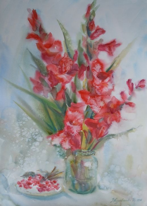 Gladiolus - Zhuravlova Nataliia & Watercolor
