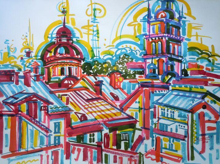 Lviv - Zhuravlova Nataliia & Watercolor