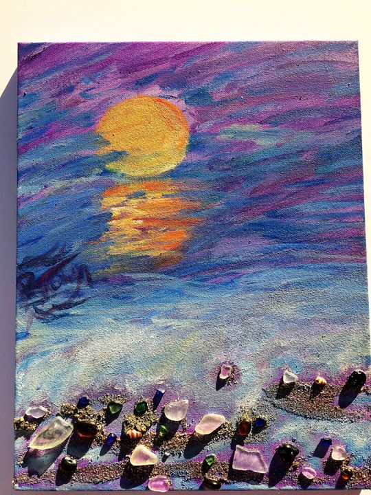 Sunset Into Darkness - Beach Glass Treasures