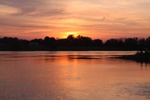 sunsetart with River Elbe