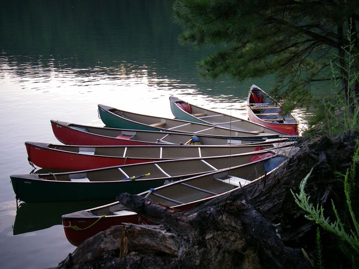 Canoes waiting - Frank and Calla Bell Scholarship Foundation