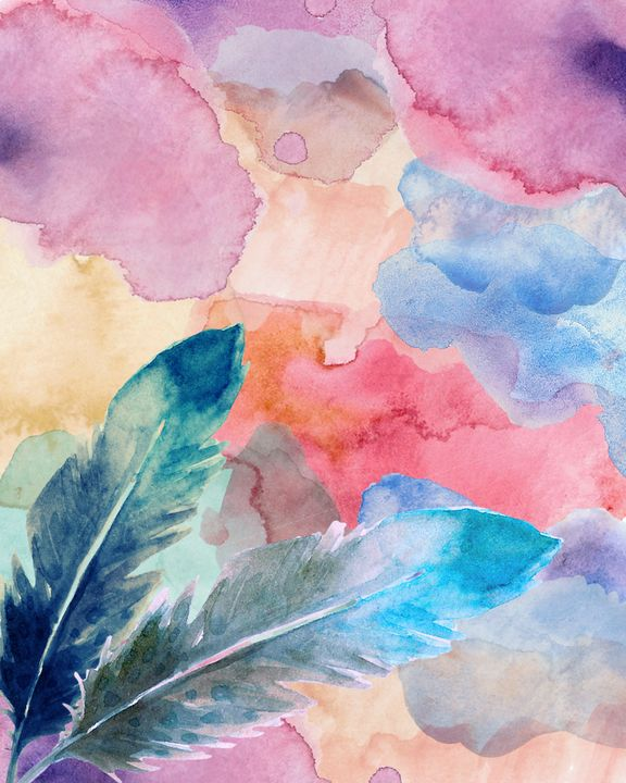 watercolor feather - artlover