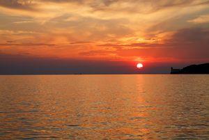 Sunset over Trieste Bay