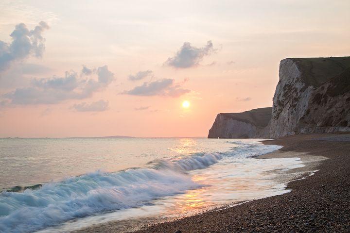 Sundown at Durdle Door beach - ianmiddletonphotography
