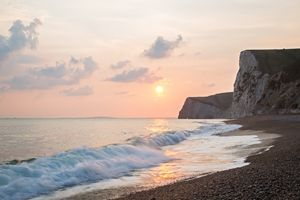 Sundown at Durdle Door beach