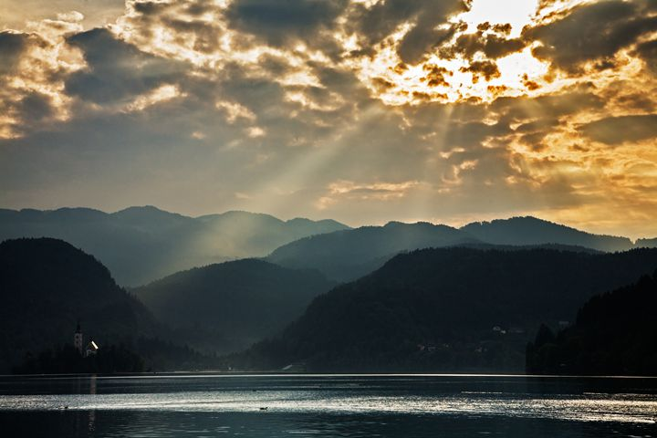 Angel rays over Lake Bled - ianmiddletonphotography