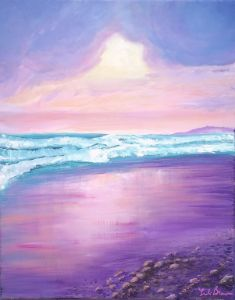 Sunset at the Seashore - Leslie Brewer