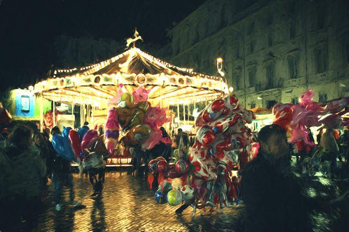 Carousel in the night -  Robertogiobbi