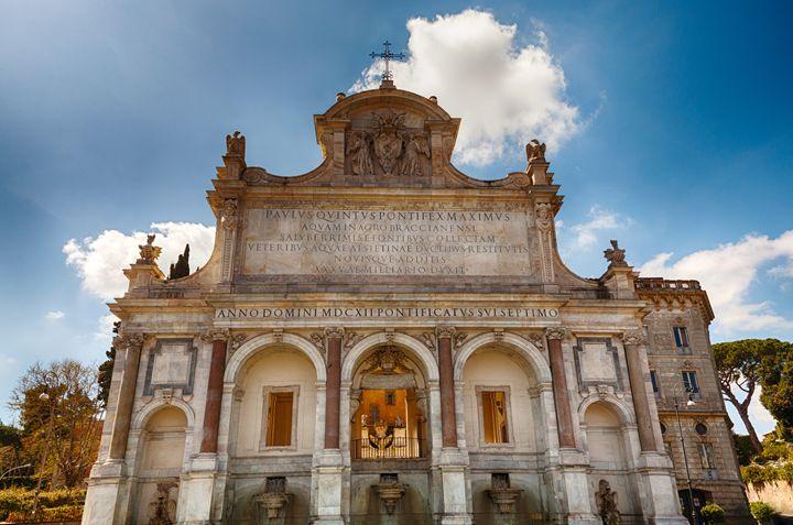 Fountain of Acqua Paola in Rome - Roberto Giobbi