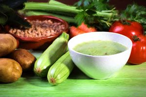 Vegetables soup ingredients