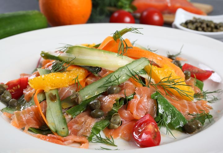Salmon salad with orange - Roberto Giobbi