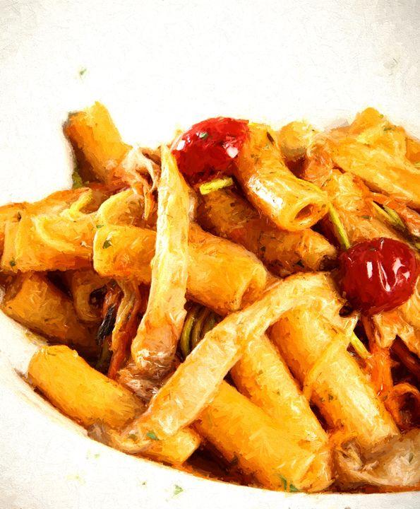 Fresh pasta with tomatoes - Roberto Giobbi