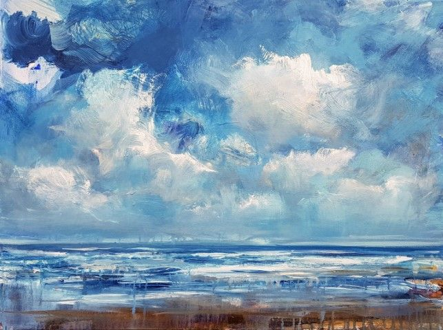 Approaching rain showers - wimvandewege paintings