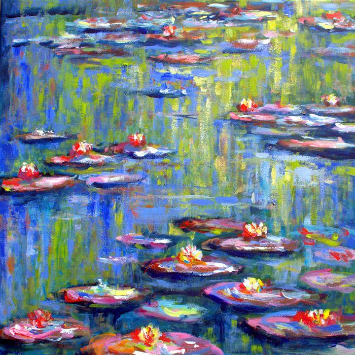 Waterlilies 3 in Monets garden - wimvandewege paintings
