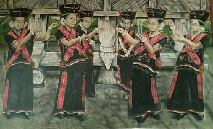 Dayak Traditional Dance - Xtra3e Art