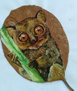 Tarsier on the leaf