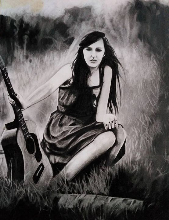 Girls and a guitar - Xtra3e Art