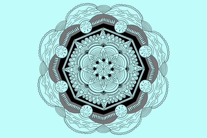 Blue Beach Mandala - Artsy Days With Shawntel