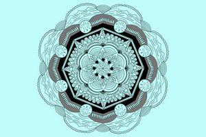 Blue Beach Mandala