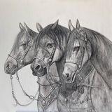 crayons et acrylique