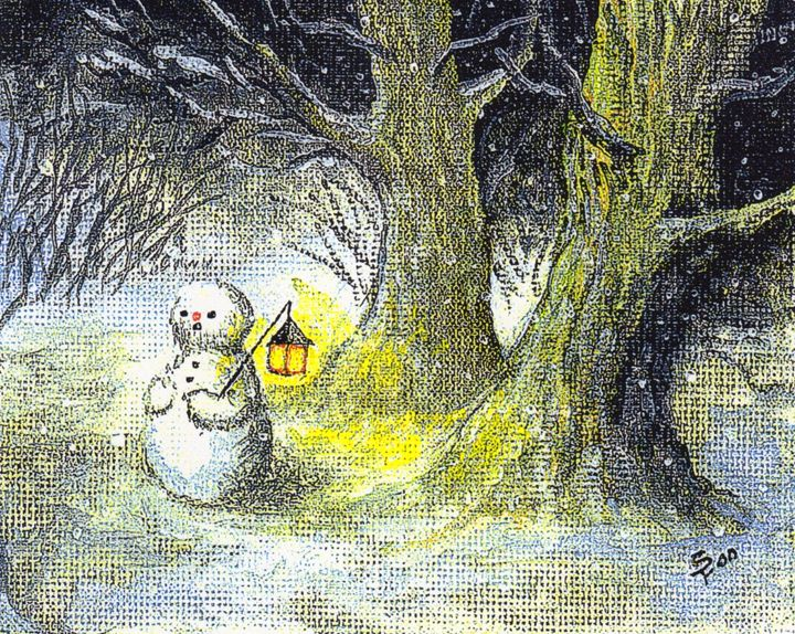Lost Snowman - Pia's Contemporary Art Collection